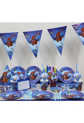 Partypark Spiderman Basic Parti Seti (16 Kişilik)