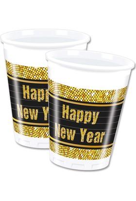 KullanAtMarket Happy New Year Plastik Bardak 200Cc