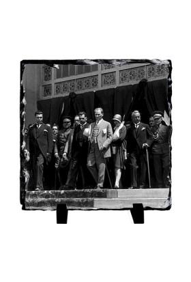 Fotografyabaski Atatürk Haydarpaşa Garı - Kare Taş 15X15Cm