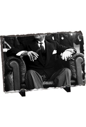 Fotografyabaski Mustafa Kemal Atatürk 4 Dikdörtgen Taş Baskı 15X20 Cm