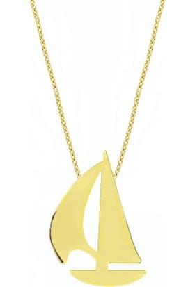 Goldstore 14 Ayar Altın Yelkenli Kolye Gp33095
