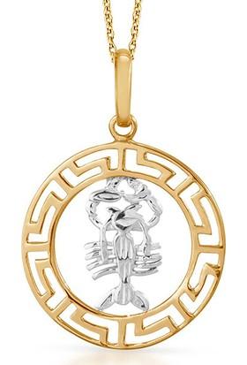 Goldstore 14 Ayar Altın Akrep Burcu Kolye Gp39918