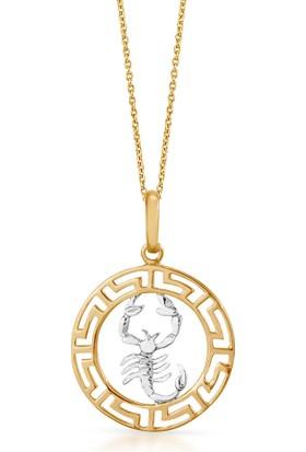 Goldstore 14 Ayar Altın Yengeç Burcu Kolye Gp39932