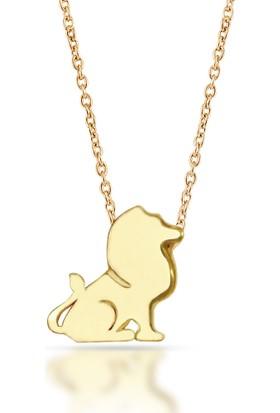 Goldstore 14 Ayar Altın Aslan Kolye Gp40099