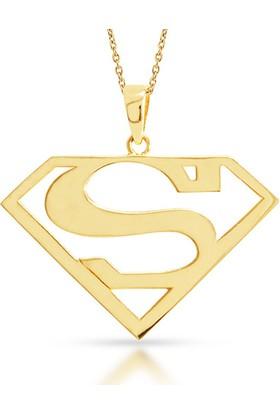 Goldstore 14 Ayar Altın Superman Kolye Gp40399