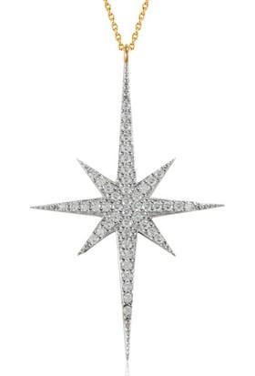 Goldstore 14 Ayar Altın Kutup Yıldızı Kolye Gp40462
