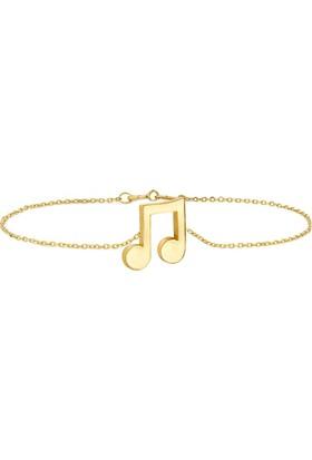 Goldstore 14 Ayar Altın Nota Bileklik Gb40128