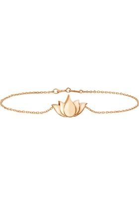 Goldstore 14 Ayar Altın Büyük Lotus Bileklik Gb40142