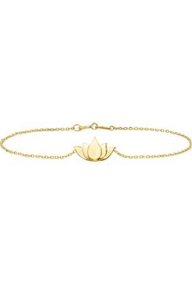 Goldstore 14 Ayar Altın Küçük Lotus Bileklik Gb40143