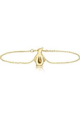 Goldstore 14 Ayar Altın Penguen Bileklik Gb40258