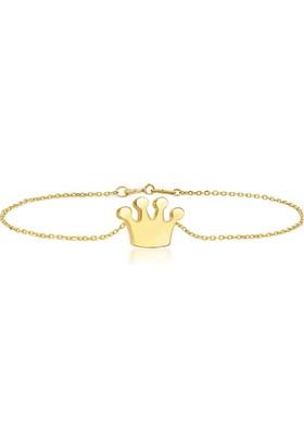 Goldstore 14 Ayar Altın Kral Tacı Bileklik Gb40297