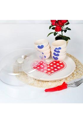 Pötikare Kırmızı Hitit 9 Parça Kahvaltı Takımı