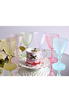 6lı Buzlu Büyük Şarap Bardağı