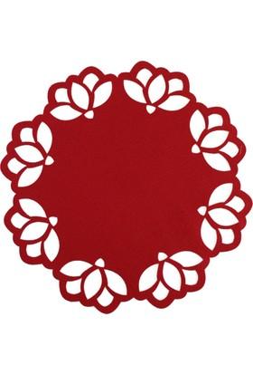 2 Adetten Oluşan Kırmızı Renk Amerikan Servis - Çiçek