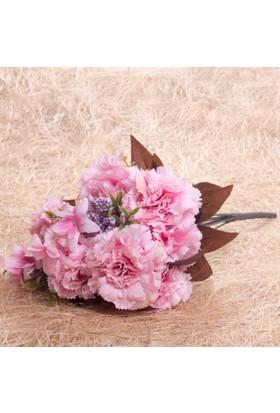 Benim Kınam Yapay Çiçek Büyük Pembe Karanfil Demeti 9 Adet Karanfili Vardır