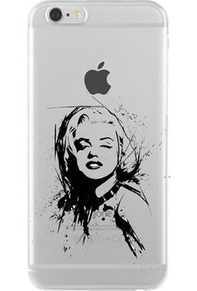 Remeto Marilyn Monroe Apple iPhone 6/6S Kılıf Transparan Silikon Resimli Kılıf