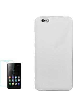 Gpack Xiaomi Mi 4C Kılıf 02mm Silikon Arka Kapak Renksiz +Cam