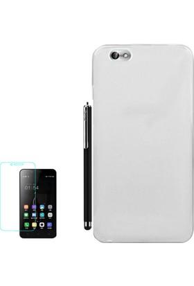 Gpack Xiaomi Mi 4C Kılıf 02mm Silikon Arka Kapak Renksiz +Kalem+Cam