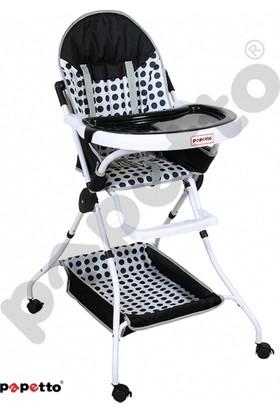 Papetto Ma203 Easy Mama Sandalyesi Tekerli Siyah