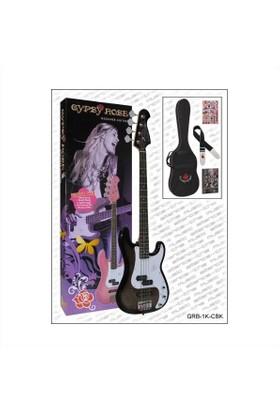 Valencia Grb1Kcbk Bas Gitar Seti (Sehpa/Gigbag/Sticker/Dvd)