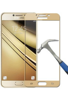 Teleplus Samsung Galaxy C5 Full Kapatan Cam Ekran Koruyucu