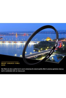 Canon 18-135mm Lens için Star Yıldız 8 Filtre -DHD-