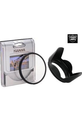 Canon 18-55mm Lens için Koruyucu Uv Filtre + Yaprak Parasoley -Tianya-