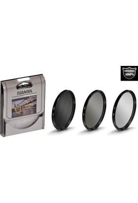 Tianya 58mm Koruyucu Uv Filtre + Cir Cpl Circular Polarize Filtre + Nd8 Uzun Pozlama Nd Filtre