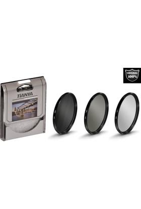 Canon 18-135mm Lens için Koruyucu Uv + Cir Cpl Circular Polarize + Nd8 Uzun Pozlama Nd Filtre -Tianya-