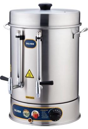 Sılver 60 Bardak 6 L Çay Makinası - Metal Musluklu