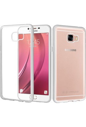 CaseUp Samsung Galaxy C5 Kılıf CaseUp Lazer Kesim Silikon + Cam