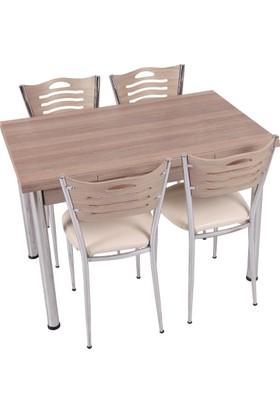 Osmanlı Mobilya Mutfak Masa Takımı Masa + 6 Sandalye Kordoba
