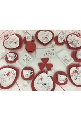 Keramika Peri Masali Aşk Kahvaltı Takımı