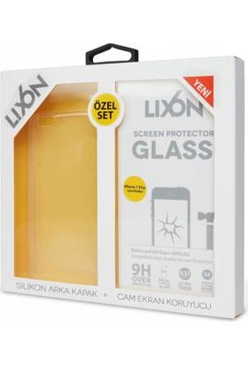 Lıxon Apple iPhone 7 Plus Cam Ve Silikon Seffaf Kılıf + Korucu Cam