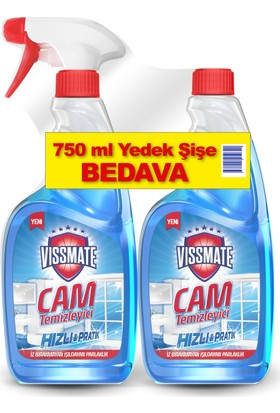 Vissmate Cam Temizleyici + Yedek Şişe 750 ml