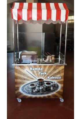 Altın Metal Kumda Türk Kahve Arabası