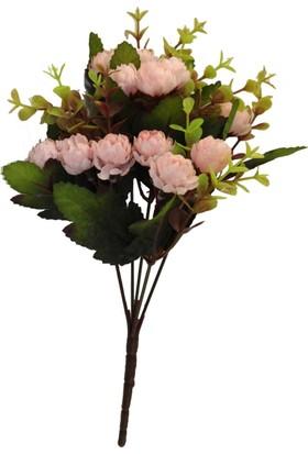 Yapay Çiçek Deposu 15li Top Gül Demeti (Açık Pembe)