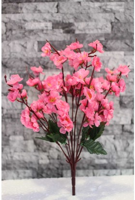 Yapay Çiçek Deposu 9lu yapay bahar dalı (yapay çiçek – Pembe)