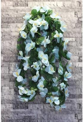 Yapay Çiçek Deposu Yapay Çiçek ( Çiçekli Sarmaşık Mavi)