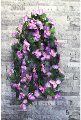 Yapay Çiçek Deposu Yapay Çiçek ( Çiçekli Sarmaşık Mor)