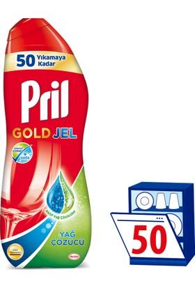 Pril Gold Bulaşık Makinesi Jel Deterjanı Yağ Sökücü 1000 ml 50 Yıkama