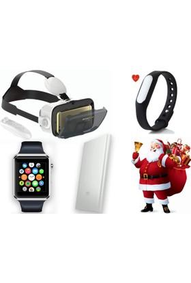 Case 4U Sevgililer Günü Paketi (Case 4u Bobo Z4 Vr Gözlük + Bluetooth Kumanda + Mi Band 1s ( Nabız Ölçen ) + Case 4u A1 Akıllı Saat + Mi 5000 mAh Powerbank)