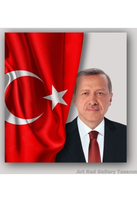 ArtRedGallery Recep Tayyip Erdoğan Tablo - Özel Tasarım