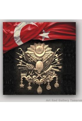 ArtRedGallery Türk Bayrağı Ve Osmanlı Tuğrası Tablo
