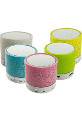 Musıc Fm Radyolu Mikrofonlu Işıklı Bluetooth Mini Hoparlör Ses Bombası