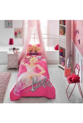 Barbie Ballerina Tek Kişilik Ranforce Yatak Örtüsü