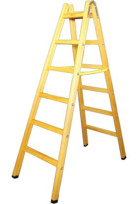 Despa 190cm 6 Basamaklı Üst Tablalı Ahşap Merdiven