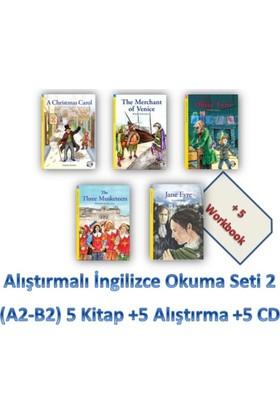 Alıştırmalı İngilizce Okuma Seti 2 (A2-B2) 5 Kitap +5 Alıştırma +5 Cd