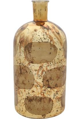 Yargıcı Desenli Vazo (26 x 13 cm)