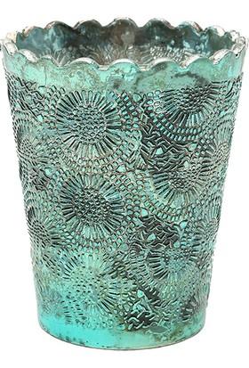 Yargıcı Renkli Cam Mumluk (9 x 8 cm)